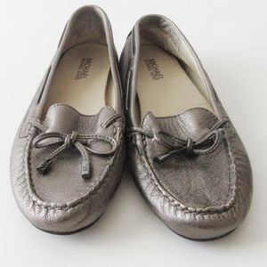 Michael Kors Pewter Sutton Moccasin Loafers SZ 7.5